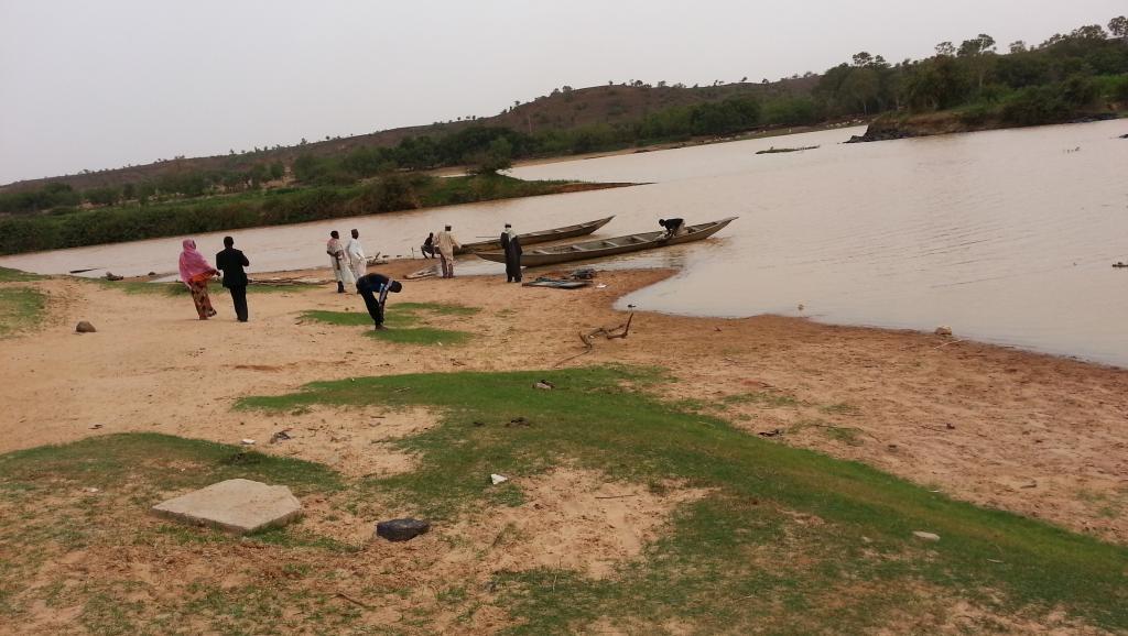 Une vue du fleuve Niger Kanazi