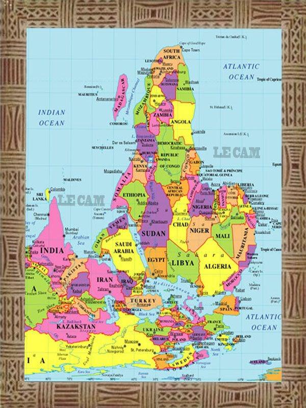 Carte d afrique