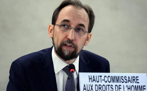 Le Haut Commissaire des Nations unies aux droits de lhomme Zeid Raad Al Hussein
