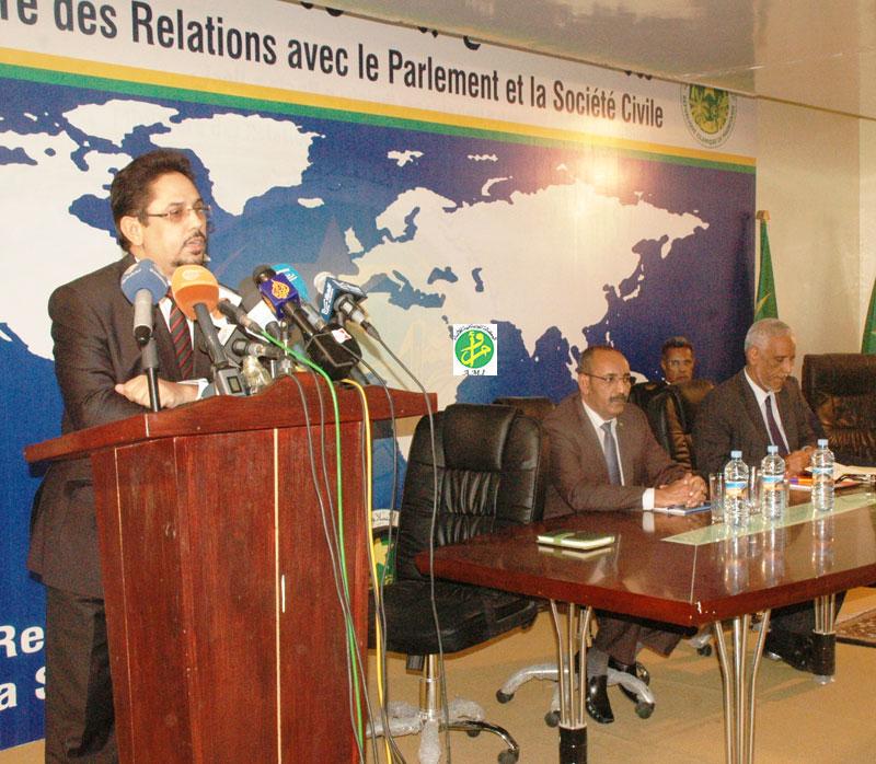 Conférence de presse hebdomadaire du gouvernement mauritanien
