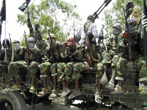 Des combattants islamiques du groupe Boko Haram
