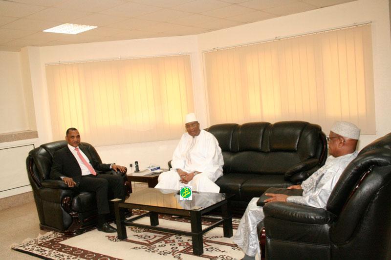 audience du ministre malien avec son homologue mauritanien