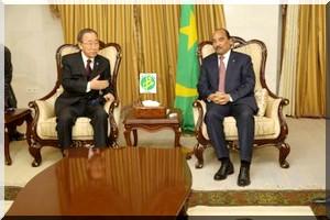 rencontre de Ban ki Moon avec le président mauritanien