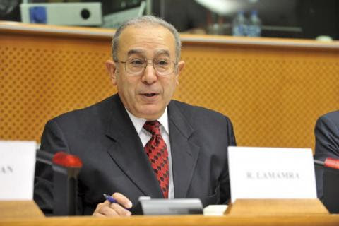 Le ministre d'Etat, ministre des Affaires étrangères et de la Coopération internationale, Ramtane Lamamra.