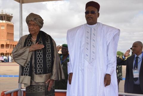 mahamadou issoufou et son homologue liberienne ellen johnson sirleaf 1